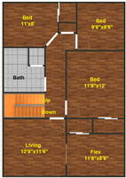 629 S. Division, 2nd floor
