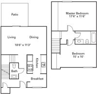 Foxfire 2Bed Townhome A