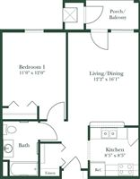 LW Fenton 1bed-1bath