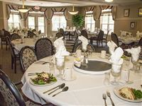Our beautiful dining room, chef prepared meals daily