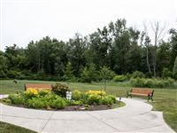 Our beautiful garden and a view of our 64 acres