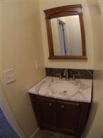 vanity in bathroom