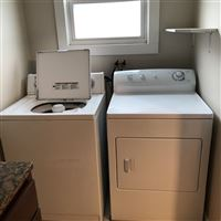 Laundry on main floor in bathroom
