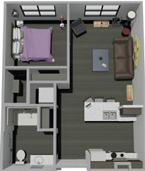 One of the many floor plans to chose from