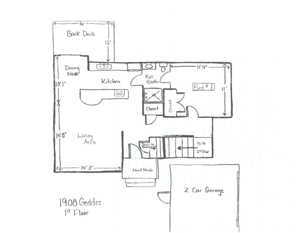 1908 Geddes - 1st Floor