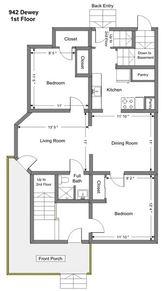 942 Dewey - 1st Floor