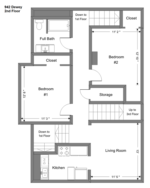 942 Dewey - 2nd Floor