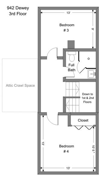 942 Dewey - 3rd Floor