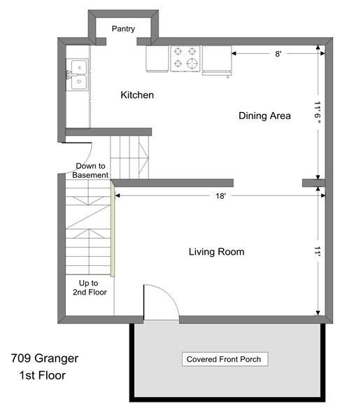 709 Granger - 1st Floor