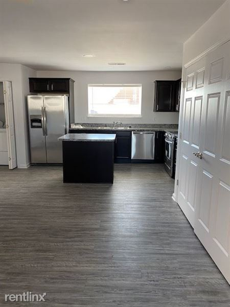 Open concept Kitchen and Living Room.