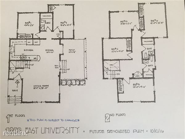 NEW PROPOSED FLOOR PLAN.  Subject to change.