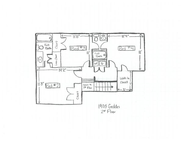 1908 Geddes - 2nd Floor