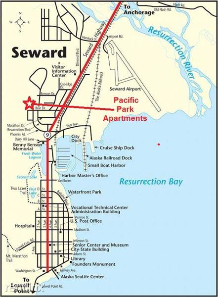 Pacific Park Apartments Map
