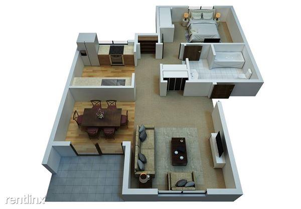 Pacific Park Apartments 3-D Floor Plan