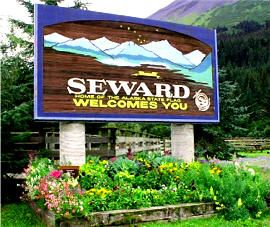 Seward Welcome Sign