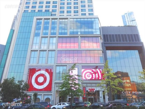 City Point center across the street with Target, Alamo Drafthouse Theater, Century 21, Trader Joe's, and more!