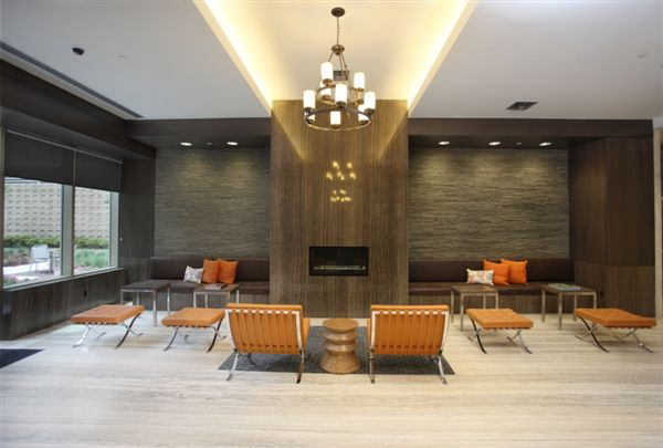 Lobby Cafe with Fireplace & Coffee Bar