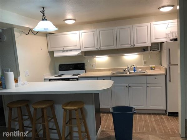 New Stove, Kitchen area with Bar Cabinet