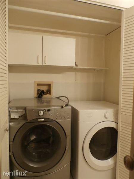 Bathroom-Laundry Closet with Washer and Dryer