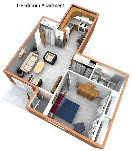 1BR Apartment Floorplan