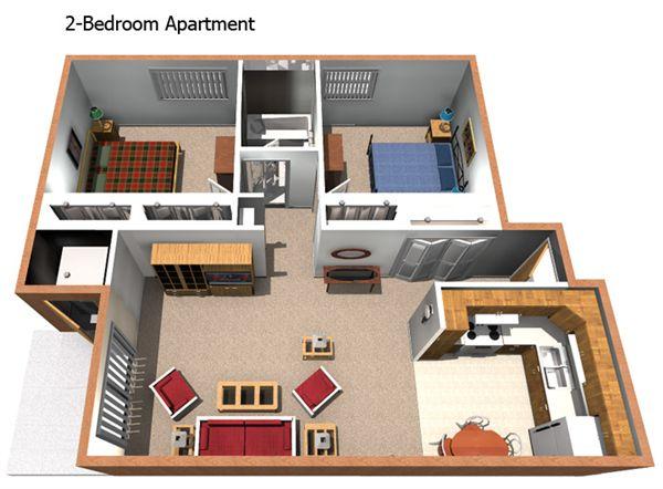 2BR Apartment Floorplan