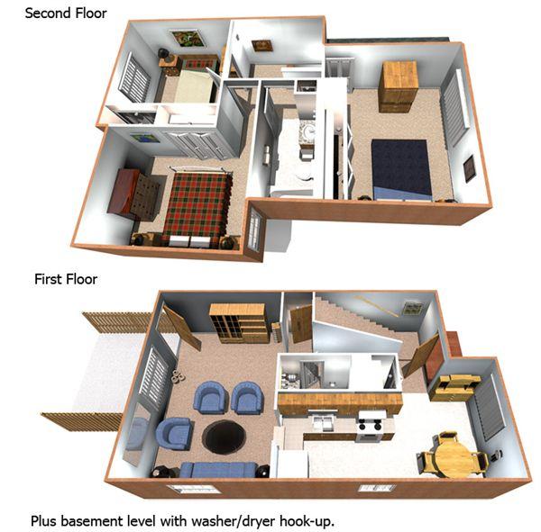 3BR Townhome Floorplan