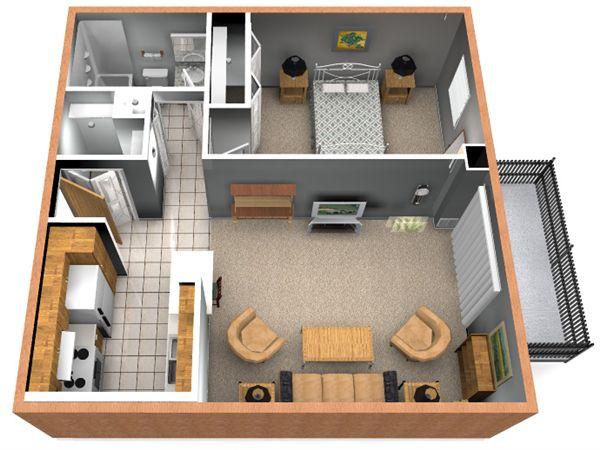 1BR/1Bath Floorplan