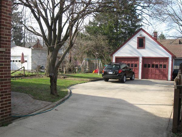 Garage & Back Yard