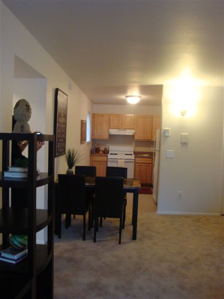 Open, spacious floorplan in the 2BR/1bath