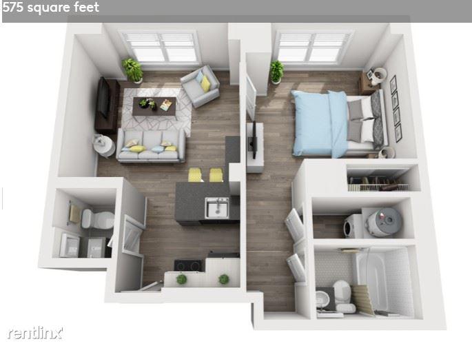 Detroit Flex-Lease/Furnished @ Briggs Houze - 15 - Floorplan #1408 Briggs Houze