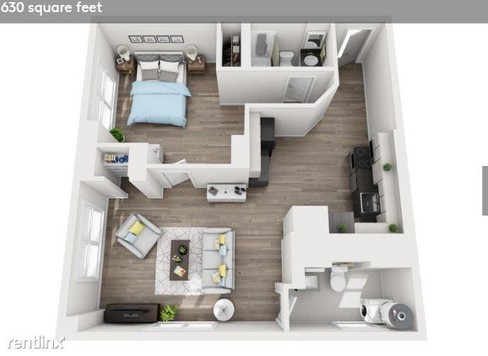 Detroit Flex-Lease/Furnished @ Briggs Houze - 15 - Floorplan #1707 Briggs Houze