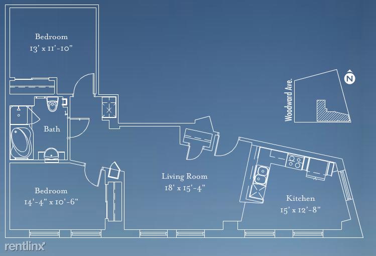 Detroit Flex-Lease/Furnished @ Broderick Tower - 17 - BT #2604 Floorplan
