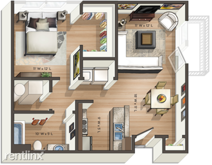 Orleans Landing - Furnished Flex-Lease Apartments - 13 - Updated_Bellmont_A_Floor_plan_copy