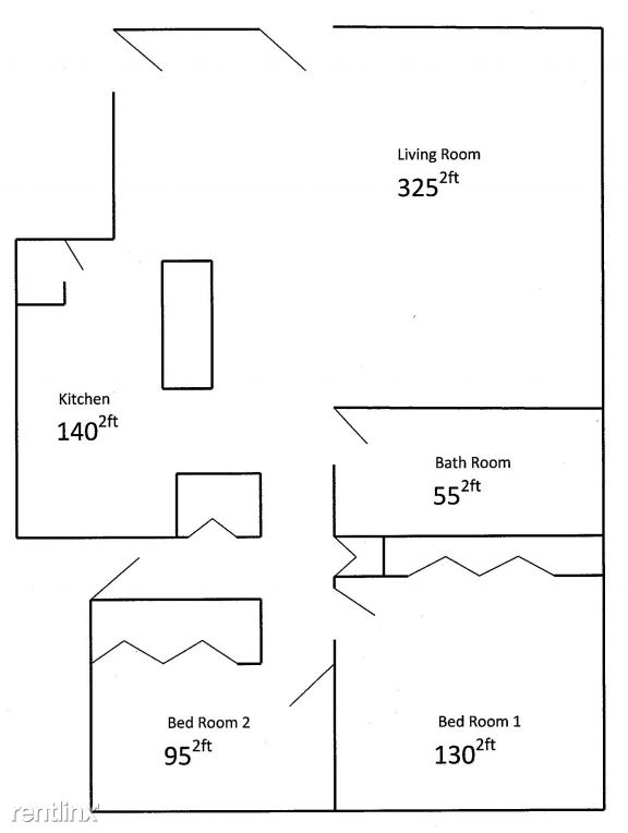 2 Bedroom Home Floorplan