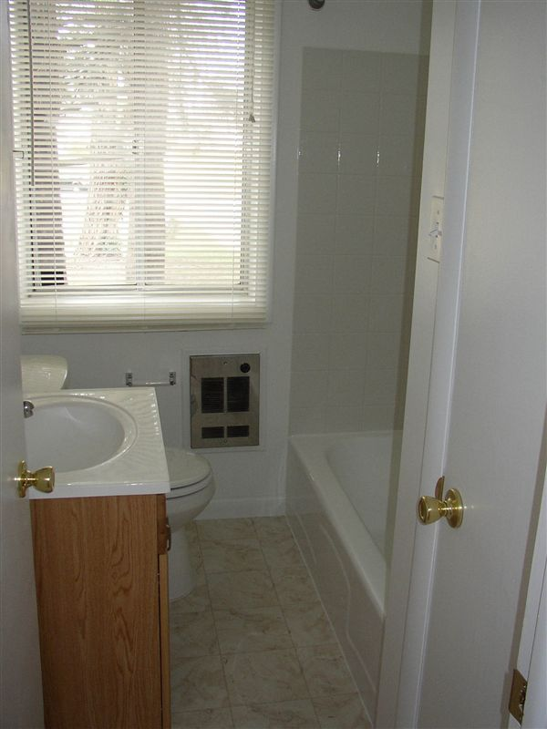 Looking into the bathroom.