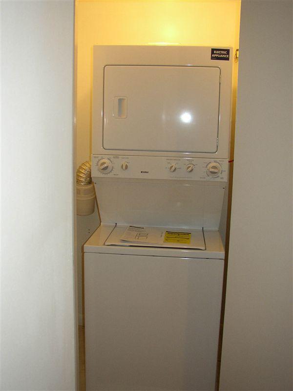 Washer/Dryer closet.