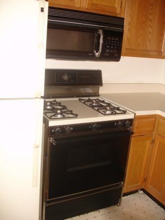 Microwave & stove