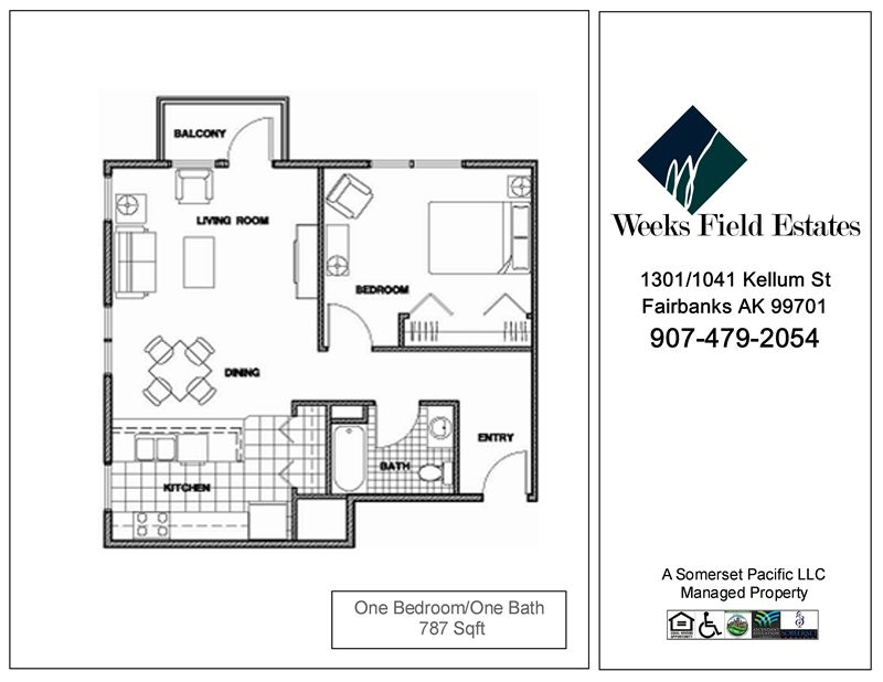 Weeks field estates i apartments 1301 kellum st for Alaska floor plans