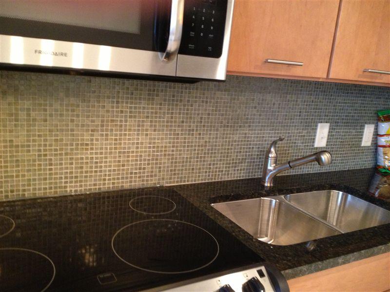 Granite counter top in 25th floor suite