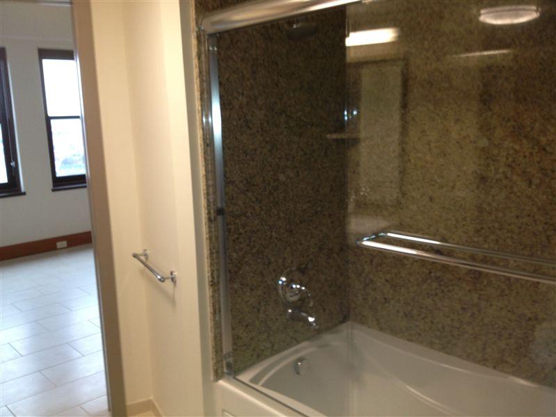 Granite-glass shower