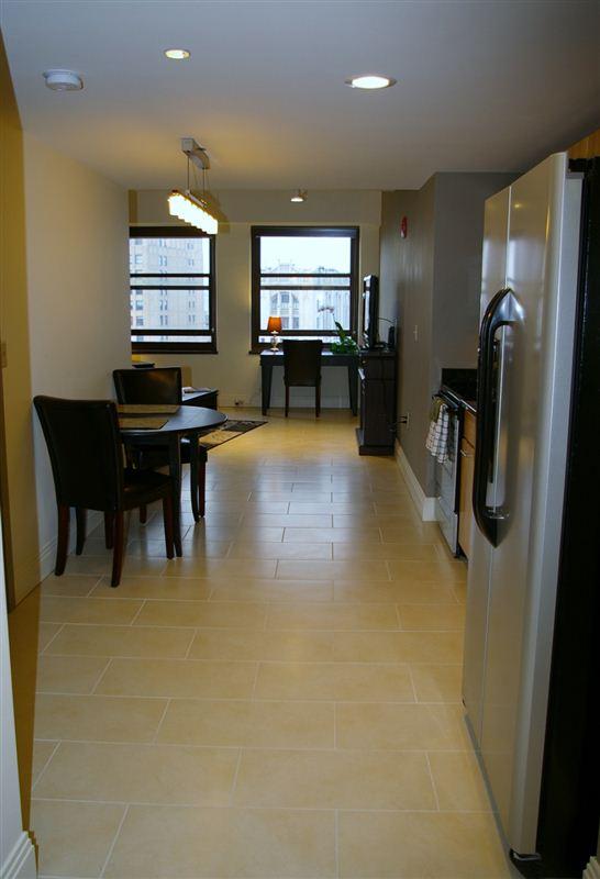 Hallway through kitchen to LR