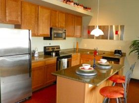 Corporate Suite Kitchen - Furnishings may vary