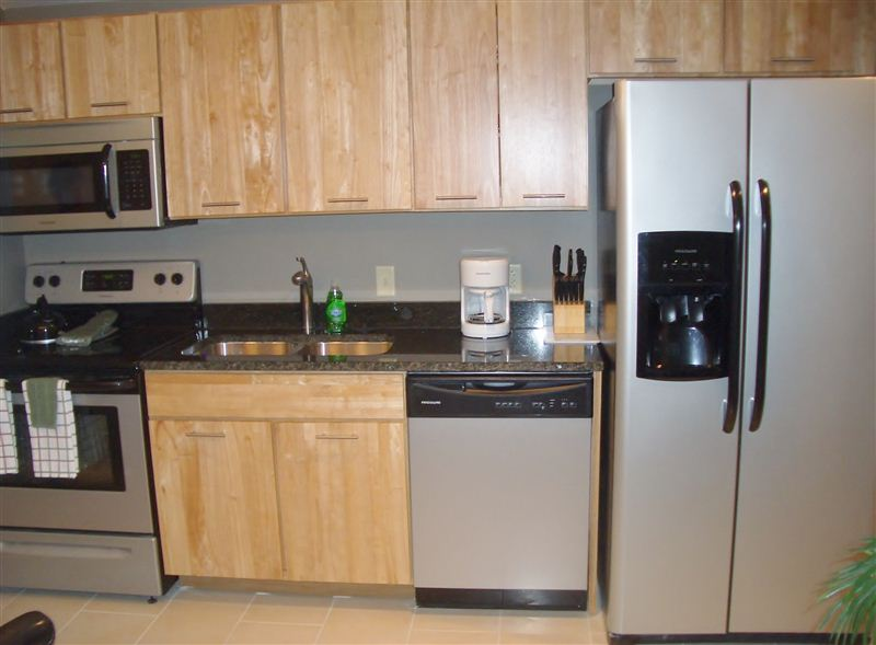 Clean Steel and Granite Kitchen