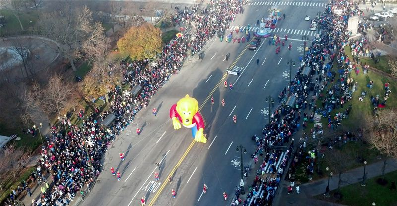 Thanksgiving Parade from 15th floor suite