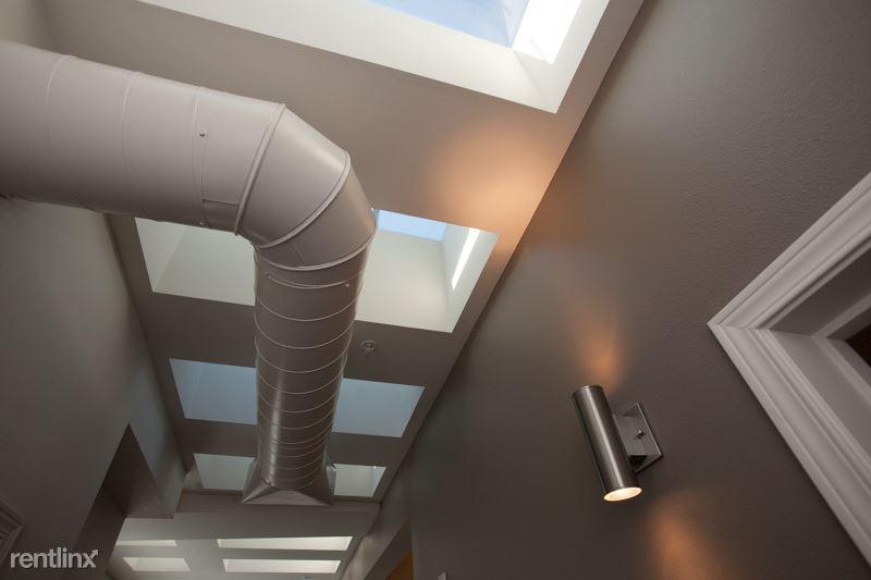 14 skylights in hallway