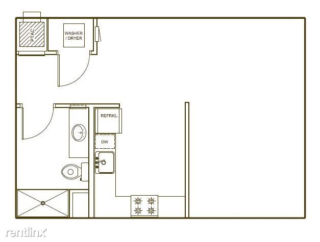 7-A floor-plan. at 572 sf.