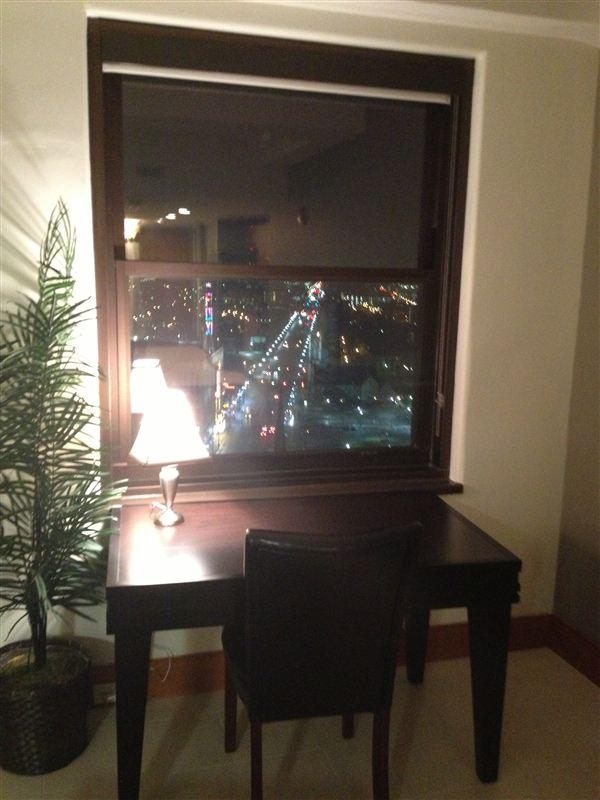 desk at night