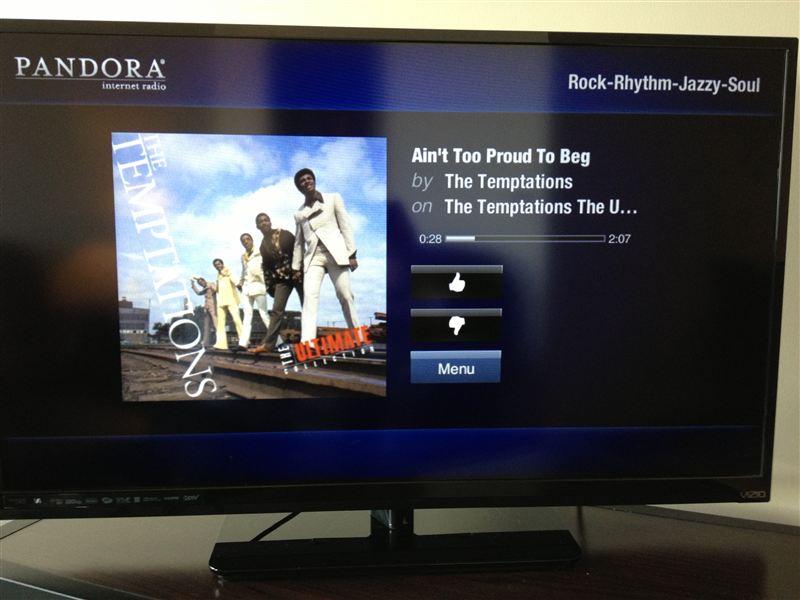HDTV with Internet Apps - Pandora - Netflix - More