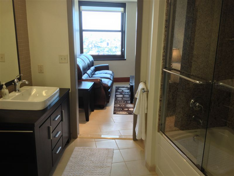 Bathroom - Vanity - Granite Shower - Sofa