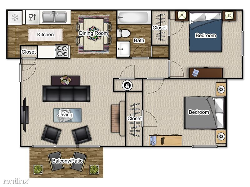 $675   $700 2 Bedroom Traditional